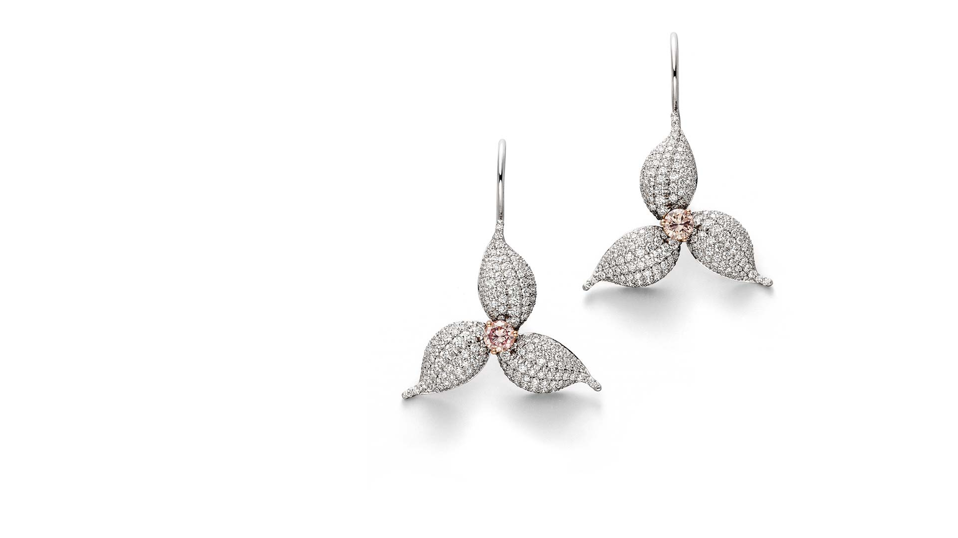 Platinum Diamond Earrings Tobias Ueberschaer Goldschmiedemeister Schmuck Unikate Edelsteine